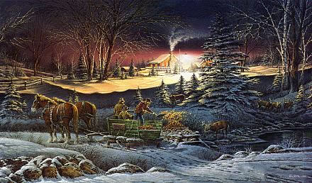 christmas oil paintings and winter scene oil paintings wholesaleartsframes